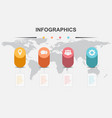 infographic design template with cylinder elements vector image vector image