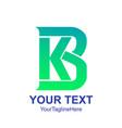 initial letter kb or bk logo design template vector image vector image