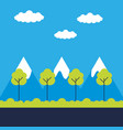 landscape nature trees vector image