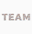 large group people in form team word vector image
