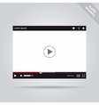 Modern flat video player interface vector image vector image