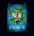 new year 2019 party celebration poster template vector image vector image