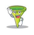 okay funnel character cartoon style vector image vector image