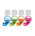 options infographics template infographics vector image vector image