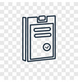 passed concept linear icon isolated on vector image vector image