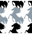 pattern with horses vector image vector image