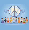 peace united nations people vector image