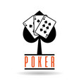 poker spade cards suit for gambling concepst vector image