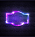 realistic neon led lights frame game show signage vector image