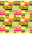 Retro pop audio tapes pattern vector image vector image