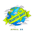 save the earth protect our planet eco ecology vector image vector image
