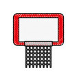 scribble red basketball hoop vector image