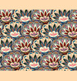 seamless ethnic pattern with floral motives beige vector image vector image
