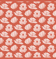 seamless pattern with poppy flower floral vector image vector image