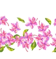 Seamless pattern with rhododendron flowers Bright vector image vector image