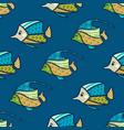 seamless underwater fish pattern vector image