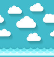 seascape with clouds pattern vector image vector image