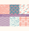 set chinese seamless patterns and vector image vector image
