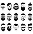 set hairstyles for men in glasses collection vector image vector image