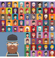 Set of people icons with faces