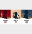 set of sherlock holmes posters detective vector image