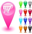 Shopping cart button vector image vector image