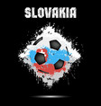 soccer ball in the color of slovakia vector image vector image