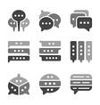 Speech bubble icon set