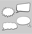 speech bubbles hand drawn sketch in comic book vector image