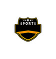 sport badge template logo designs inspiration vector image vector image