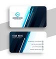 stylish blue lines business card professional vector image vector image
