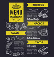 traditional mexican cuisine design template of vector image vector image