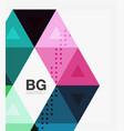 triangle modern mosaic geometric template vector image