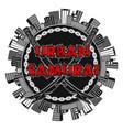 urban samurai 0002 vector image vector image