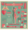 Valentines day infographic Flat style love graphic vector image vector image