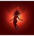 Winged Girl in fantasy style vector image vector image