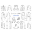 women s clothes collection winter outfit vector image