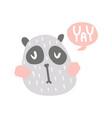 yay panda vector image vector image