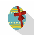 Big easter egg icon flat style vector image