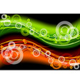 green and red neon light on the dark background vector image