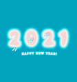 2021 happy new year card paradise island numbers vector image vector image