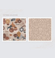 a collection seamless patterns for a pottery vector image vector image