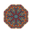abstrct geometric doodle mandala pattern design vector image vector image
