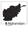 Afghanistan regions map vector image