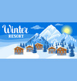 alpine chalet houses winter resort vector image