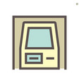 atm machine icon design for financial graphic vector image vector image