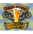 Bikers Festival retro Beer vector image