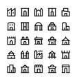 Building Icons 2 vector image vector image