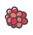 bunch berries red ripe cartoon vector image