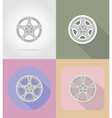 car equipment flat icons 15 vector image vector image